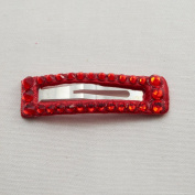 Bari Lynn Rectangle Crystalized Snap, Red