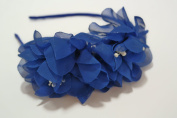 Chicky Chicky Bling Bling Girls Royal Blue Fairy Flower Luau Headband Womens Royal Blue