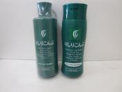 Rishiri Colour Shampoo Dark Brown 200ml and Hair Colour Treatment Dark Brown) 200ml set
