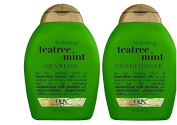 OGX Hydrating Tea Tree Mint Moisturising Shampoo and Conditioner - 380ml