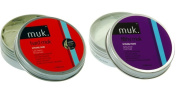 Muk Haircare - Styling Paste - TWO ITEM VALUE SET - Hard Brutal Hold Mud - Filthy Firm Hold Paste - Each 100ml - Muk Styling Paste...