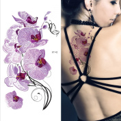 Supperb® Temporary Tattoos - Violet Orchids