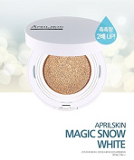 April Skin Magic Snow Cushion WHITE SPF50+ / PA+++ (15g) (#23 Natural Beige) 2016 New Version