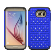 Galaxy S7 Edge Case, HP95(TM) Bling Soft Rubber Impact Armour Hybrid Case Back Cover Case For Samsung GalaxyS7 Edge , Shock Proof, Silicone