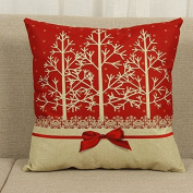 46cm x 46cm Cotton Linen Cushion Cover Throw Pillow Case Home Sofa Car Decor Christmas Decoration
