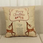 46cm x 46cm Cotton Linen Cushion Cover Throw Pillow Case Home Sofa Car Decor Christmas Decoration
