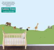 Jungle Stickers with Elephant, Lion, Giraffe, Monkey, Jungle Wall Décor for Baby Room