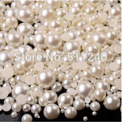 1000 Mixed Size from 3mm to 8mm Craft ABS Resin Flatback Half round imitation pearls Loose Beads