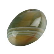"2pcs AAA Unique Double Colours Agate Oval Cabochon Arc Bottom Gemstone beads 25x18mm or 9.84""x7.09"" #GP11"