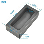 High Purity Refining Graphite Casting Melting Ingot Mould for Gold Silver Metal