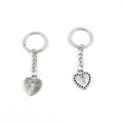 40 Pieces Keyring Keychain Keytag Key Ring Chain Tag Door Car Wholesale Jewellery Making Charms O6XN8 Lock of Love