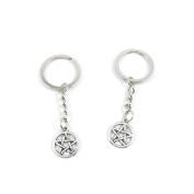 40 Pieces Keyring Keychain Keytag Key Ring Chain Tag Door Car Wholesale Jewellery Making Charms F1FU6 Star of David