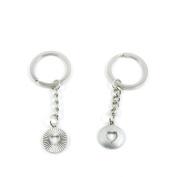 10 Pieces Keyring Keychain Keytag Key Ring Chain Tag Door Car Wholesale Jewellery Making Charms U1TT4 Love Heart
