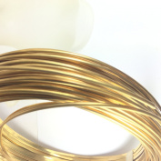 6 gauge half Round Red Brass wire 3m, 4.11 mm x 2.06 mm size