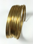 8 gauge half Round Red Brass wire 3m, 3.25 mm x 1.63 mm size
