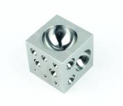 5.1cm Stainless Steel Dapping Block Square with 18 Half Sphere Cavities