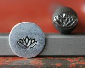 Supply Guy 7mm Lotus Flower Metal Punch Design Stamp 375-32