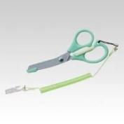 Naisu scissors (with strap) [Green] MG-45