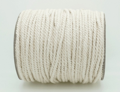 3mm Natural White Cotton Twisted Cord Craft Macrame Artisan String (50yards Spool)