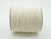 1.5mm Natural White Cotton Twisted Cord Craft Macrame Artisan String