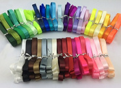 Solid Colour Satin Ribbon 40 Colours 1.3cm X 2 Yard Each Total 80 Yds Per Package ...