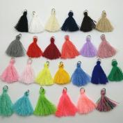 25pcs Multi-Colours Mini Silk Tassels DIY Craft Supplies Jewellery Tassels Chunky Tassel Fringe Trim