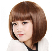 LongOu students look is high temperature wire BOBO head wig