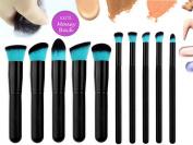 Qivange Premium Professional Synthetic Kabuki Makeup Brush Set Cosmetic Foundation Eyeshadow Blush Concealer Powder Brush Makeup Brush Kit