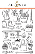Garden Grow Clear Stamp Scrapbooking Card Making