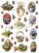 Victorian Easter Eggs Collage Sheet #101