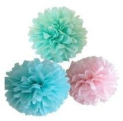 Since ® 12PCS Mixed Colours Tissue Pompoms Paper Flower Pom Poms Wedding Birthday Party Girls Room Decoration SIC-01731