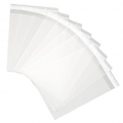 MyCraftSupplies 23cm x 30cm Resealable Clear Cello Bags - Tape on Lip (Flap) Set of 100