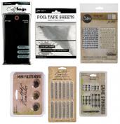 Tim Holtz - Idea-ology & Ranger - Tags, Foil Tape, Texture Fades & Curiosities