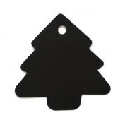 LWR Crafts 100 Hang Tags Christmas Tree with Jute Twines 30m