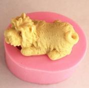 Super Cute 3D Mini Schnauzer Soap Making Mould Chocolate Mould Silicone Mould Random Colour