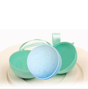 Tyoungg 6 Pack Blue Colourful Plastic Bath Bomb Ball Moulds Round Two Pieces For Making DIY Homemade Bath Salt Bomb