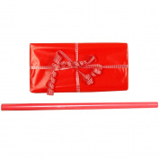 JAM Paper® Solid Colour Wrapping Paper - Large Roll (3.7sqm) - Red - Glossy Wrapping Paper Roll - Sold Individually