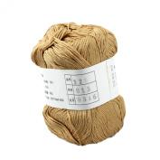 Celine lin One Skein Super Soft Natural Baby Bamboo Cotton Knitting Yarn 50g,Cream