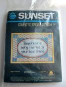 Sunset Counted Cross Stitch Kit, Best Friend