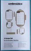 Embroidex 4 Hoops for Brother Innov-ís 2500D 1500D 2800D 4000D 4500D 4750D 6000D 6700D,XV8500D NQ1400E