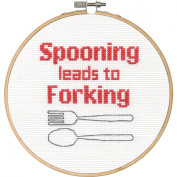 Dimensions Needlecrafts 70-74638 Say It Counted Cross Stitch Kit-Spooning