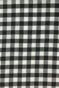 5 Yard Bolt Black 150cm Gingham Cheques Fabric - 0.6cm Cheque