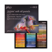 Mungyo Gallery Artists Soft Oil Pastels Set of 48 - Assorted Colours + Epoxy / gem stickers