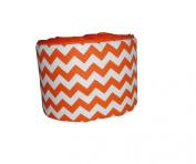 Baby Doll Chevron Round Crib Bumper, Orange