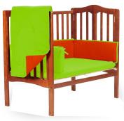 Baby Doll Solid Reversible Port-a-Crib Bedding Set, Orange/Apple