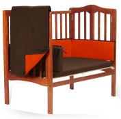 Baby Doll Solid Reversible Port-a-Crib Bedding Set, Brown/Orange