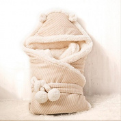 Kflan Baby Wrap/Swaddle/Blanket Naturally Coloured Cotton 0-6 Months 80cm x 80cm