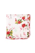 """Rockingham Road Vintage Asian """"Take Baby Home from the Hospital"""" Receiving Blanket"""