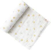 Pehr Designs Baby Chick Swaddle, Soft Yellow
