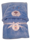Plush Baby Blanket for Boy or Girl. Super-Soft Microfiber Fleece in Animal Designs. Fab Baby Gifts! Soft Enough for Swaddle/Receiving Wrap, Sturdy Enough for Years of Toddler Cuddles. 80cm x 90cm + Hood